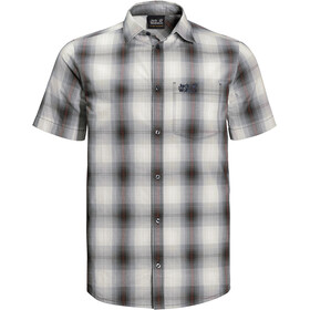 Jack Wolfskin Hot Chili Fietsshirt Korte Mouwen Heren, dusty grey checks